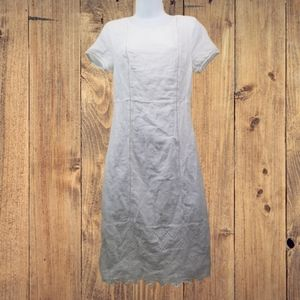 Old Navy SMALL White Dress Lace Hem Lined Sheath